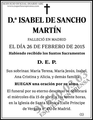 Isabel de Sancho Martín